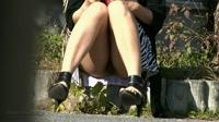 フェチ:ノーパンで座ってるんです!