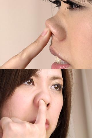 ふたりの鼻観察
