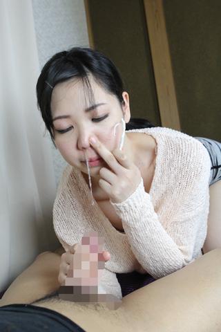 鼻水手コキ