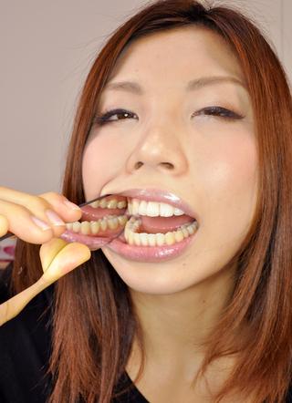 歯の写真集【画像データ2名分54枚】