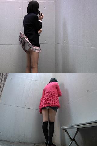 釣りざおでスカートを釣り上げ→パンチラ!3人分収録