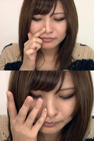 ルナの鼻穴 鼻水